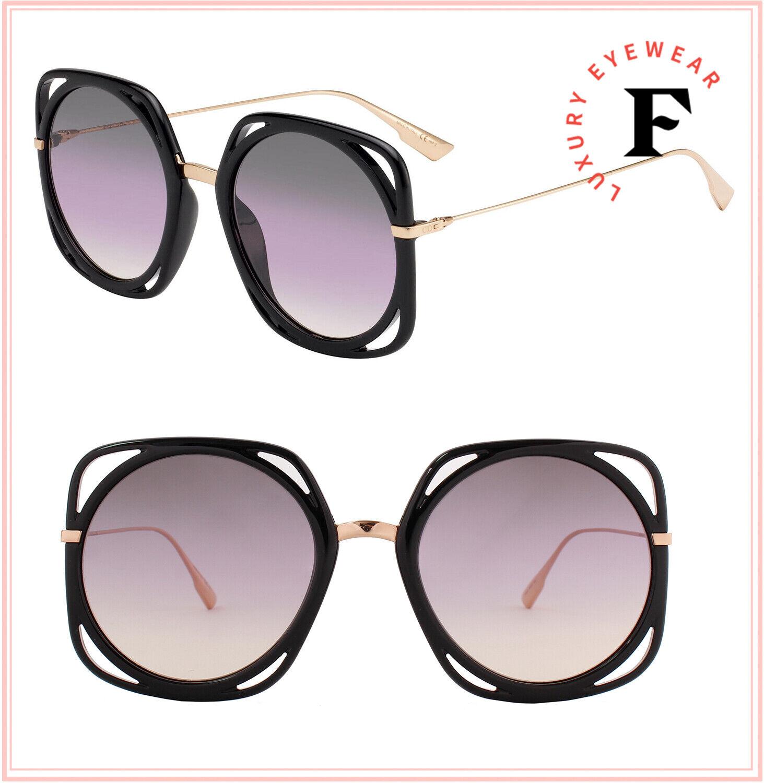 Christian Dior Direction Copper Black Metal Oversized Sunglasses DIORDIRECTION