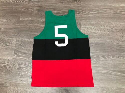 Men/'s Undefeated International Summer Tank Top Black Red Green #5 UNDFTD NEW