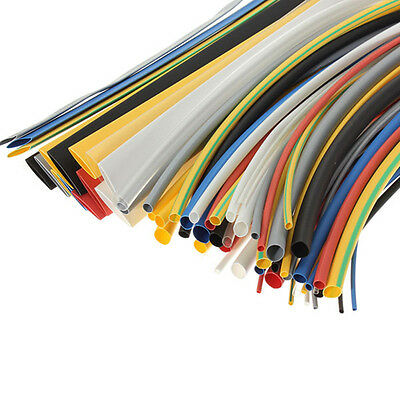 SOLOOP 64pcs Assortment 2:1 Heat Shrink Tube Tubing Sleeving Wrap Wire Cable Set