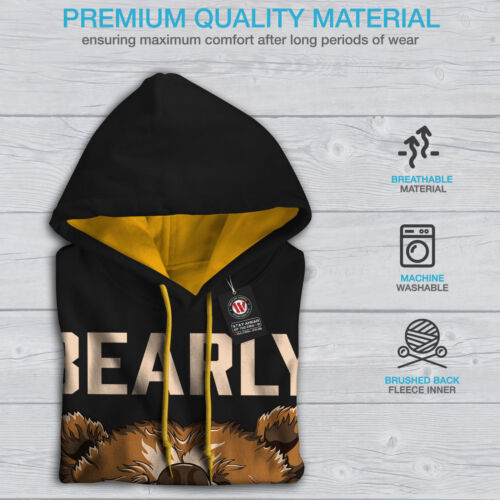 Black Bearly Contrast gold Grizzly Hood Hoodie Awake Men New YqTr1q7