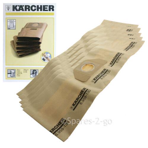 5 x Genuine Karcher Vacuum  Dust Bags A2254 A2534 MV3 Hoover Bag