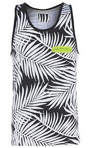 New Mens Palm VEST Muscle Leaf Vest Summer Holiday Beach Size S M L XL T Shirt