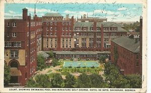 Hotel-De-Soto-Savannah-Georgia-Year-1930-Vintage-Postcard