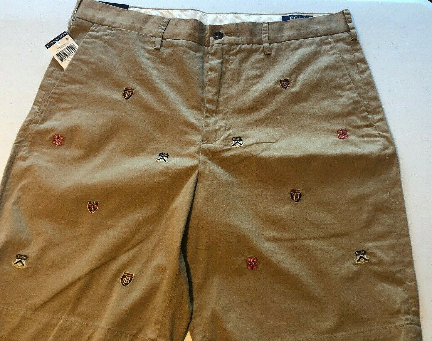 Ralph Lauren Polo Men's 29 31 34 Luxury Tan Embroidered Crest Shorts Classic  9