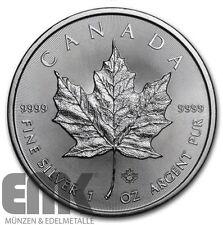 Kanada - 5 Dollar 2016 - Maple Leaf - 1 Oz. Silber in Stempelglanz