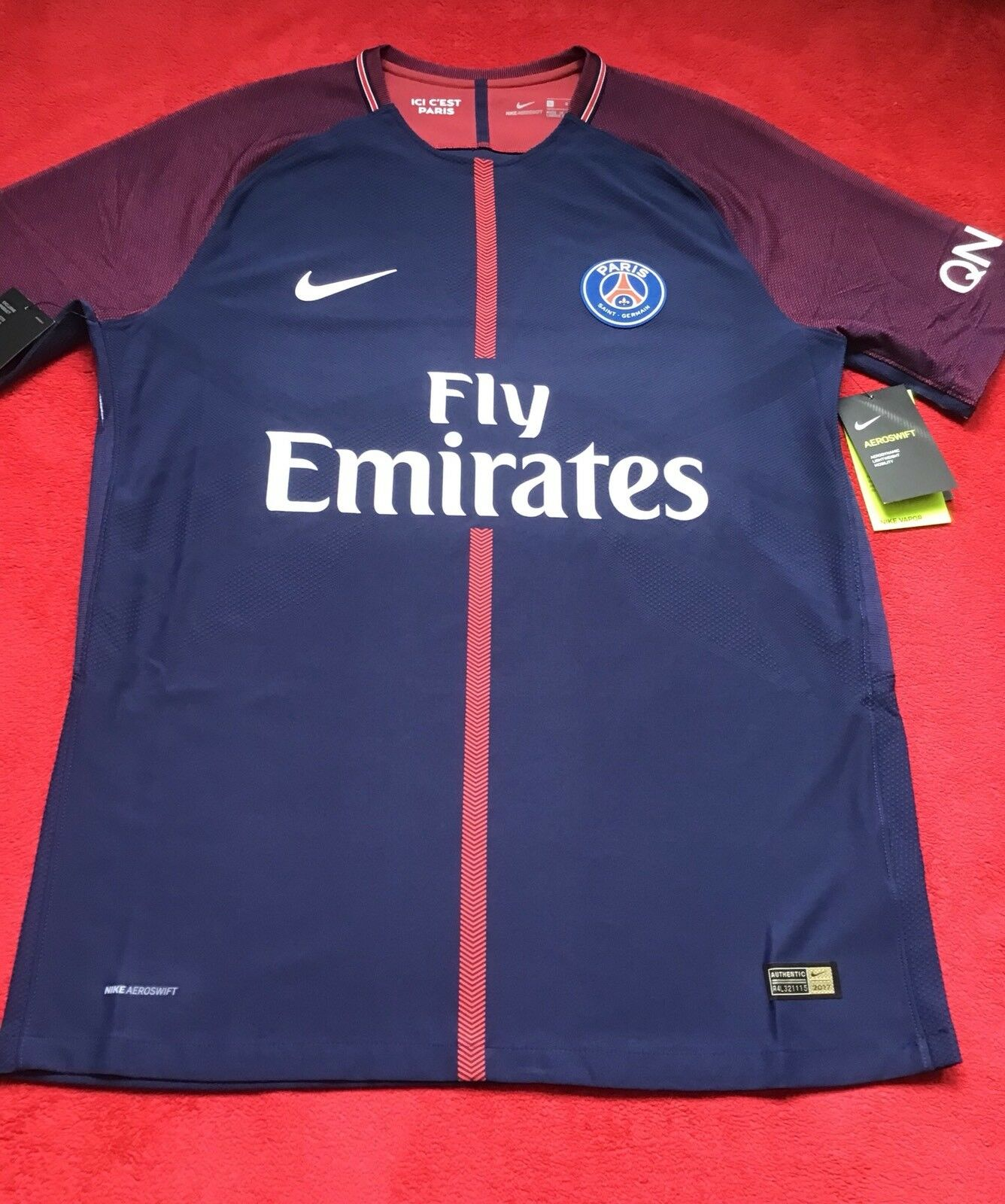 BNWT NIKE FRANCE PSG PARIS 17 18 HOME VAPOR AEROSWIFT MATCH JugarER ISSUE, XL