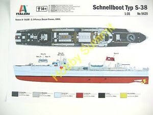 NEW-1-35-SCHNELLBOOT-S-38-Fast-Attack-Torpedo-Boat-Italeri-WWII-German-Kit