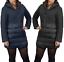 Giubbotto-Donna-Invernale-Piumino-Impermeabile-Parka-Blu-Nero-Slim-fit-Casual miniatura 1