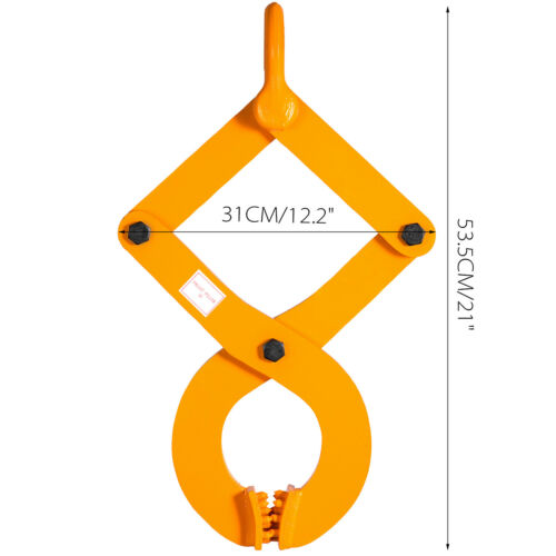 3T//6614Lbs Pallet Puller Clamp Single Scissor Sturdy Material Handling Warehouse