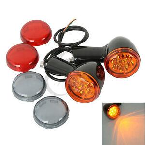 Motorcycle LED Turn Signals Lights Blinker For Harley XL Sportster 1200 883 Iron