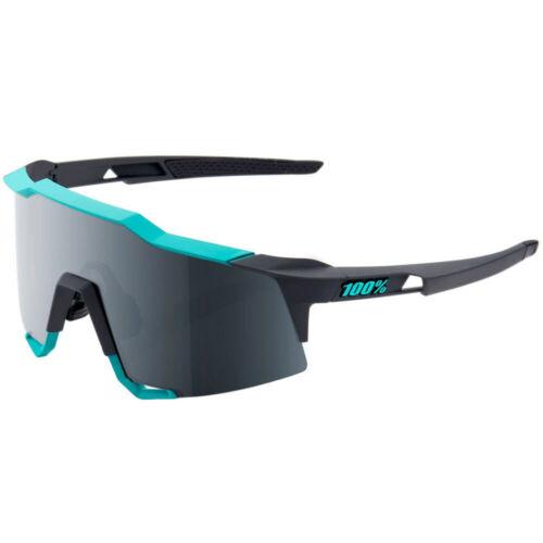 100/% Speedcraft Sunglasses Soft Tact Celeste Green//Grey Black Mirror
