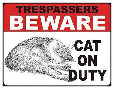 Desperate Enterprises Beware Cat On Duty Tin Sign 16 W X 12 5 H Ebay Listen to desperate enterprises by spokes for free. ebay