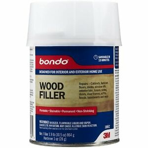 bondo stainable wood filler restore rotted damaged exterior window