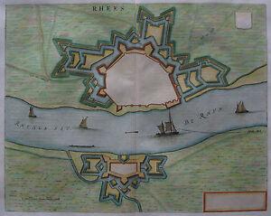 Rees-rhees-willem Janszoon Blaeu-origine Plan De 1649-afficher Le Titre D'origine 1pfbe0li-10112528-131496333