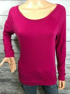 7ae78b0d3a2f Victoria s Secret PINK Women s Size XS Raspberry Long Sleeve Tee T ...