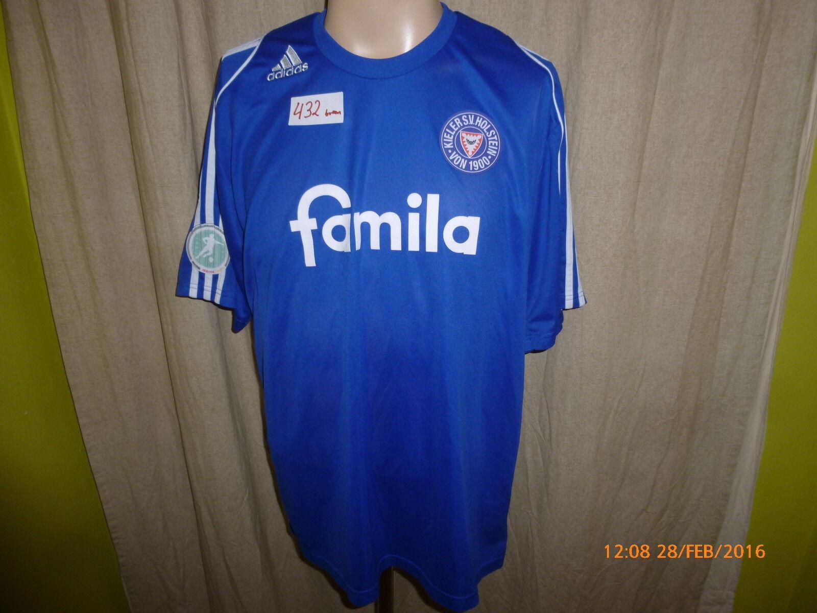 Holstein Kiel Adidas Heim Matchworn Trikot Trikot Trikot 2008 09  famila  + Nr.46 Nagel Gr.L 207f41