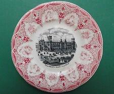 Chor Dresden,Villeroy & Boch,Teller,Sängerfest 1865,roter Kupferumdruck,Selten
