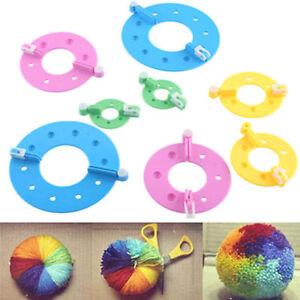 8pcs-4-Sizes-Essential-Pompom-Maker-Fluff-Ball-Weaver-Needle-Knitting-Craft-DIY