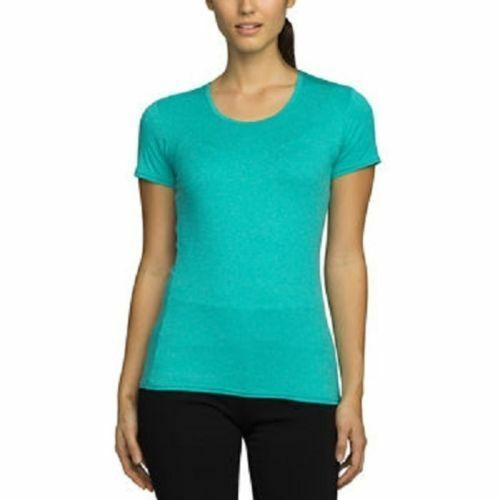 32 Degrees Cool Women/'s Athletic Short Sleeve Top Turquoise Sz M  S