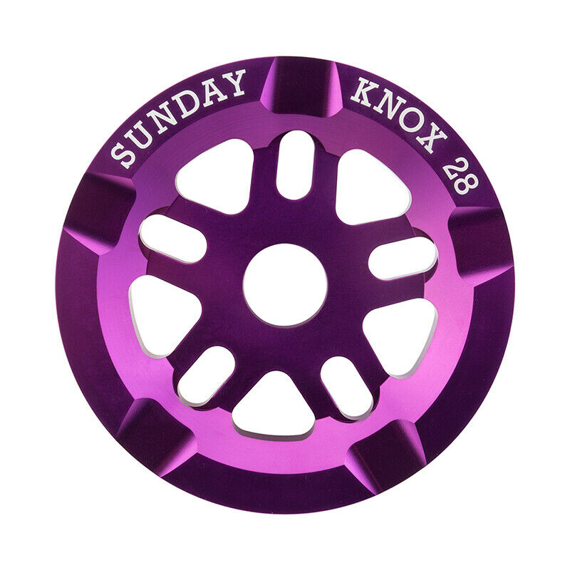 Chainring 1pc Sunday 28T Knox Guard Anodized Purple