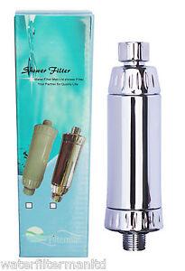 shower filter chrome in line kdf slim design filters chlorine heavy met. Black Bedroom Furniture Sets. Home Design Ideas
