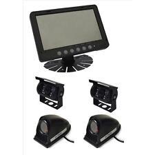 "Parksafe PS025C10164 Car Van 7"" Quad Input Parking Monitor Reversing 4 Cameras"