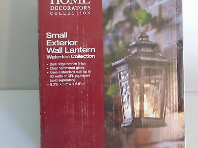 Home Decorators Collection Small Exterior Wall Lantern Leeds 700 318 Bronze Ebay