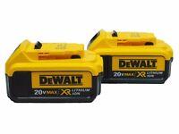 2-Pk Dewalt DCB204 4.Ah 20V Max Premium XR Lithium-Ion Battery