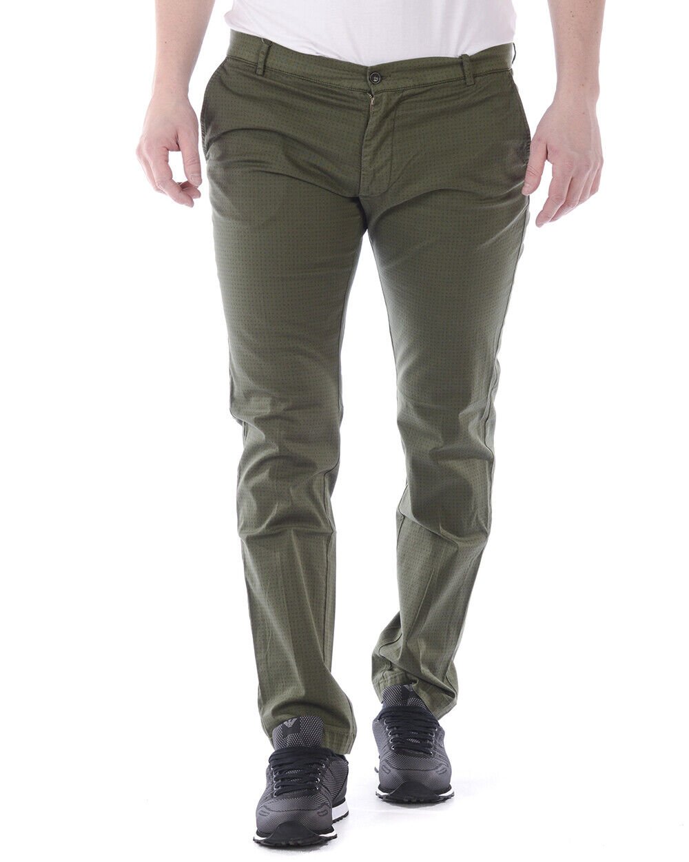 Pantaloni Daniele Alessandrini Jeans Trouser Cotone men green P33223802 33