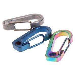 Spring-Flat-Hole-D-Flashlight-Buckle-EDC-Tool-Titanium-Alloy-Carabiner-Keychain