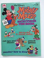 VTG 1980 Golden Walt Disneys Mickey Mouse Coloring Book Fun, Activity, Games New