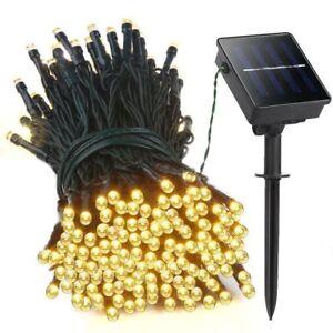 Warm-White-Solar-Power-100-LED-String-Fairy-Light-Outdoor-For-Christmas-Garden