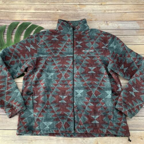Columbia Mens Steens Mountain Printed Fleece Jacke