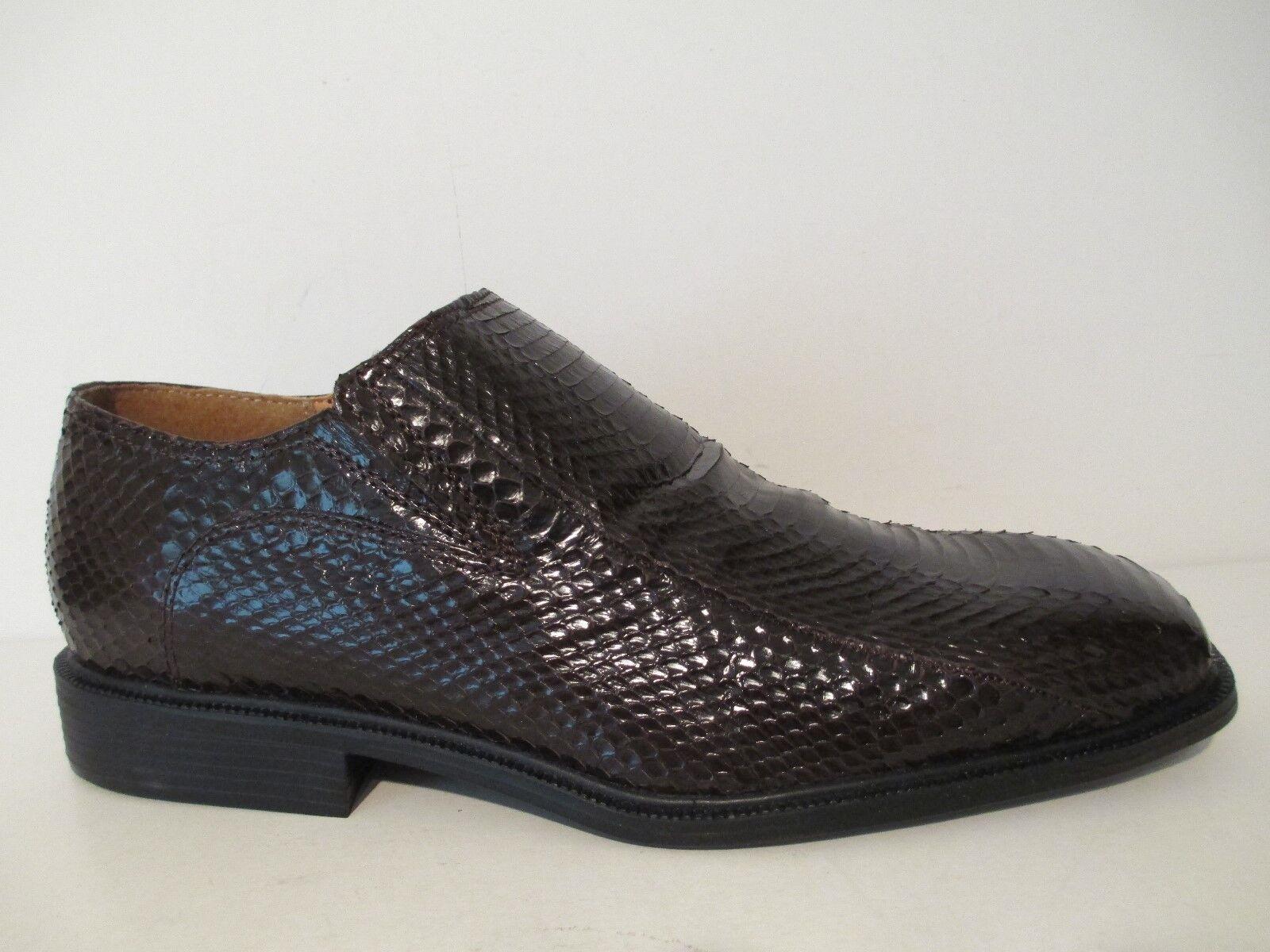 Giorgio Giorgio Giorgio Brutini Mens Felix 15521 Snakeskin Plain Toe Slip On Loafer braun 9 15 e4bbcd