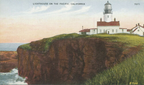 CA Light House on the Pacific ca. 1910
