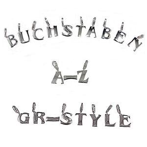Silber-925-Anhaenger-Buchstaben-A-Z-Charms-Bettelarmband-massiv-925er-Silber