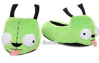 Invader Zim Gir Alien Dog Plush Slippers House Shoes Green Ladies Xl 11/12