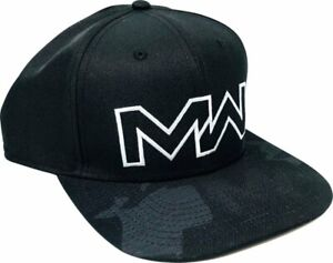 OFFICIAL-Call-Of-Duty-Modern-Warfare-Pre-curved-Snapback-Hat-Black-NEW-amp-RARE