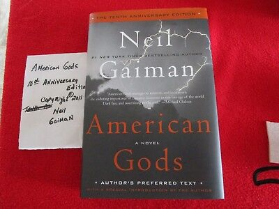 American Gods by Neil Gaiman 2011 Hard Cover