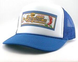 Burger-Time-Trucker-Hat-mesh-hat-snapback-hat-royal-blue-video-game-hat-vintage