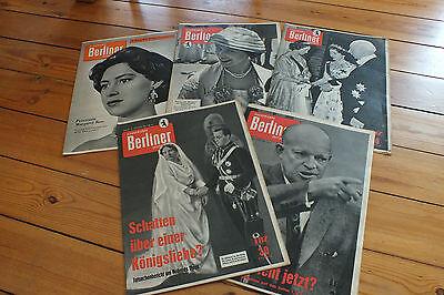 5 X Illustrierte Berliner Zeitschrift 1959 + 1956 Adel Königshäuser Queen Greece Kunden Zuerst