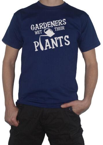 T-Shirt Gardening Garden Allotment  Mens pants Gardeners Wet Their Plants