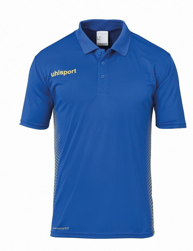 Uhlsport Kids Sports Football Soccer Short Sleeve Polo Shirt Top bluee Yellow