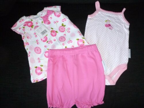 3 Piece  Baby Girls Summer Cotton Set by Nursery Time Age 0-3