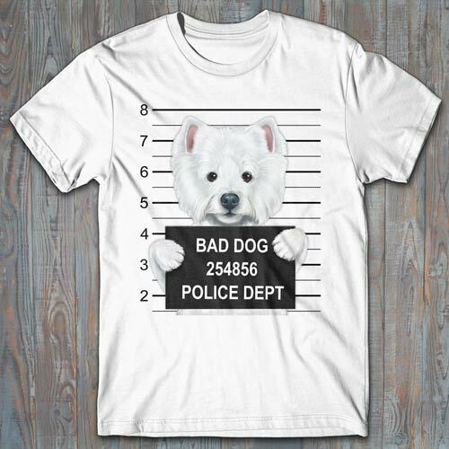 619 West Highland Terrier Dog T-Shirt  All Sizes /& Colors