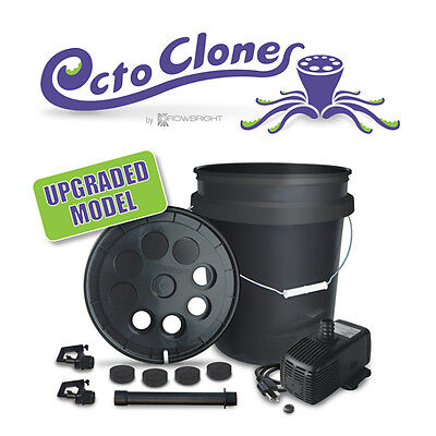 8 SITE CLONE BUCKET AEROPONIC HYDROPONIC Cloner EZ grow turbo Cloning machine