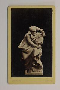 Foto-de-Una-Escultura-Chateaubriand-Francia-CDV-Foto-Vintage-Albumina