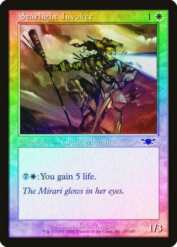 Starlight Invoker Foil Legions QUASE PERFEITO Magic The Gathering comum Branco Cartão abugames
