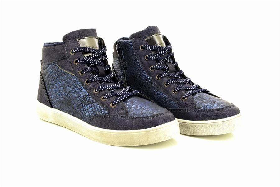 Cipriata Aria Reptile Printed Lace up Ankle Trainer Boots