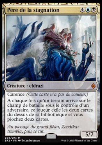 ▼▲▼ Père de la stagnation Sire of Stagnation #206 BATTLE ZENDIKAR FRENCH